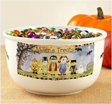 Personalized Halloween Bowl