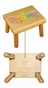 Personalized Small Wooden Puzzle Stool Pastel Colors - click to Enlarge