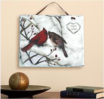 Personalized Love Birds Slate
