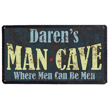 Personalized Man Cave Retro Sign
