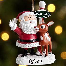 Personalized North Pole Ornament with Letter from Santa