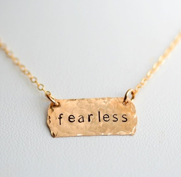 Personalized Petite Gold Tag Necklace