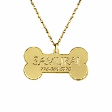 Personalized Pooch Pendant Necklace