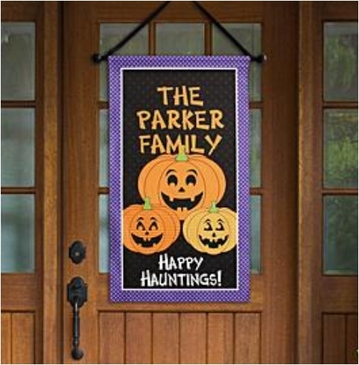 Personalized Pumpkin Canvas Banner