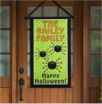 Personalized Spider Canvas Banner