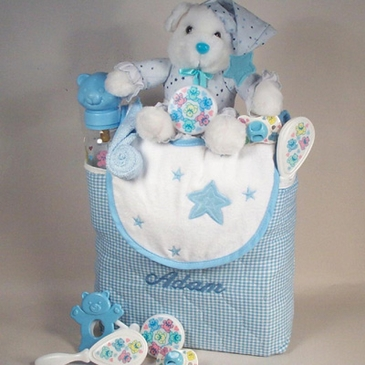Personalized Tote Bag with Baby Essentials - Boy