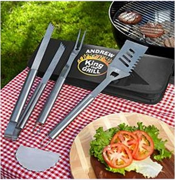 Personalized Tough Man BBQ Grill Set