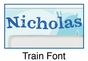 Personalized Train Picture Frame - click to Enlarge