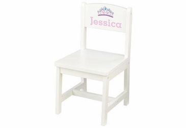 Personalized White Chair