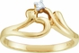 Petite Diamond Solitaire Ring - click to Enlarge
