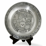 Pewter Baby Birth Celebration Plate