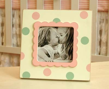 Pink & Green Picture Frame