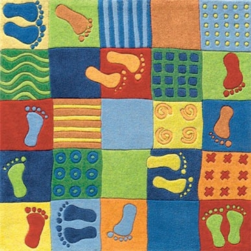 Playful Footprint Rug