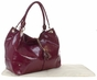 Plum Faux Patent Magnolia Baby Bag by Amy Michelle - click to Enlarge