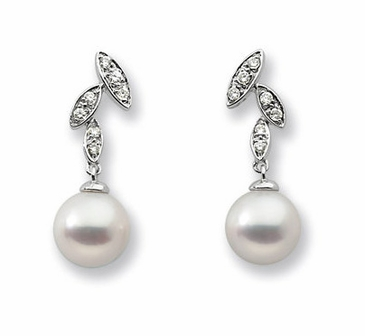 Plush Diamond and Pearl Earrings