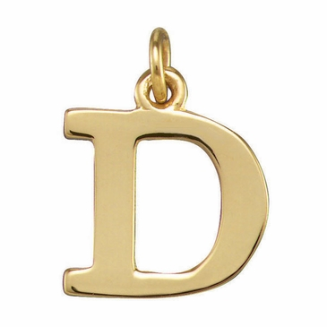 Polished Initial Pendant Necklace
