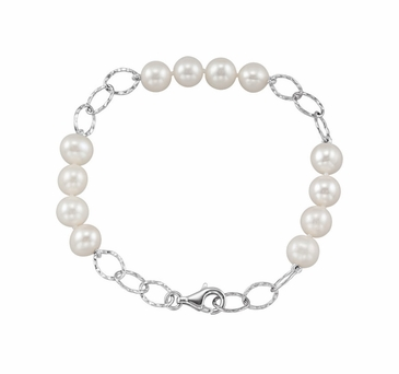 Polished Natural Pearl Bracelet