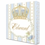 Posh Prince Crown French Blue Name Plaque Personalized by Dish and Spoon - click to Enlarge