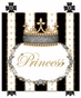 Posh Princess Crown Antico Black Name Plaque Personalized by Dish and Spoon - click to Enlarge