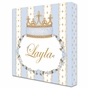 Posh Princess Crown French Blue Name Plaque Personalized by Dish and Spoon - click to Enlarge