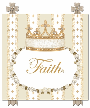 Posh Princess Crown Ivory Bisque Name Plaque Personalized by Dish and Spoon