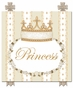 Posh Princess Crown Ivory Bisque Name Plaque Personalized by Dish and Spoon - click to Enlarge