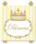 Posh Princess Crown Sunshine Yellow Name Plaque Personalized by Dish and Spoon - click to Enlarge