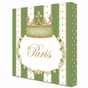 Posh Princess Crown Versailles Sage Name Plaque Personalized by Dish and Spoon - click to Enlarge