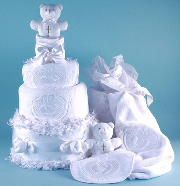 Precious Angel Diaper Cake Baby Gift Set