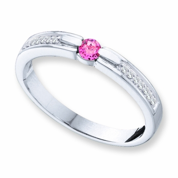 Precious Diamond Family Birthstone Ring - with Genuine Stones