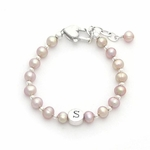 Princess Pearl Monogram Bracelet for Girl