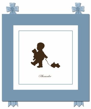 Pull Toy Play Silhouette Art Personalized by Dish and Spoon