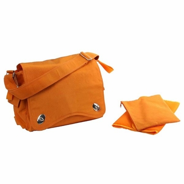Pumpkin Messenger Diaper Bag by Kalencom