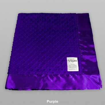 Purple Dot Velour Blanket by My Blankee