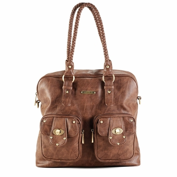Rachel Caramel Diaper Bag by Timi & Leslie