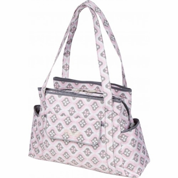 Rachel Roundabout Sweet Blush Montage Diaper Bag by Bumble Bags