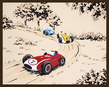 Rally Roadster IV Stretched Art by Dish and Spoon