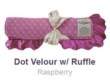 Raspberry-Dot-Velour-with-Ruffle-Trim-Blanket-by-My-Blankee