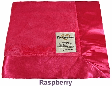 Raspberry Solid Velour Blanket by My Blankee