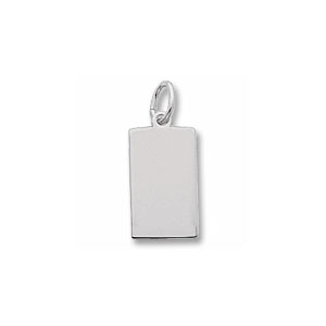 Rectangle Dog Tag Charm by Forever Charms - Personalized