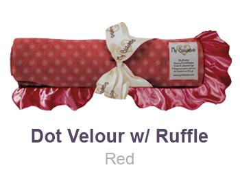 Red Dot Velour with Ruffle Trim Blanket by My Blankee