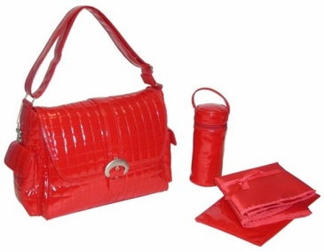 Red - Monique Diaper Bag by Kalencom