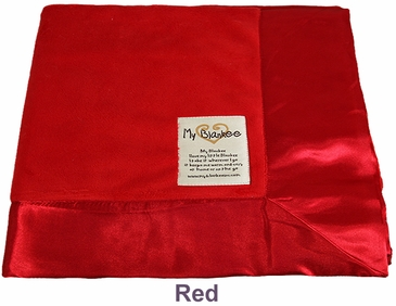 Red Solid Velour Blanket by My Blankee