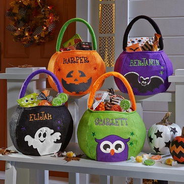 Reflective Personalized Halloween Basket