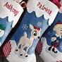 Reindeer and Snowman Christmas Stockings - Snowman - click to Enlarge