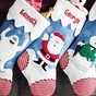 Reindeer and Snowman Christmas Stockings - Hermey - click to Enlarge