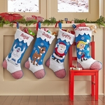 Reindeer and Snowman Christmas Stockings - Personalized