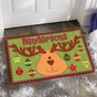 Reindeer Ornaments Doormat - Personalized - click to Enlarge