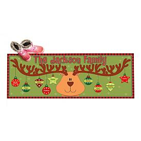 Reindeer Ornaments Doormat - Personalized