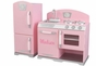 Retro Kitchen and Refrigerator - Pink - click to Enlarge